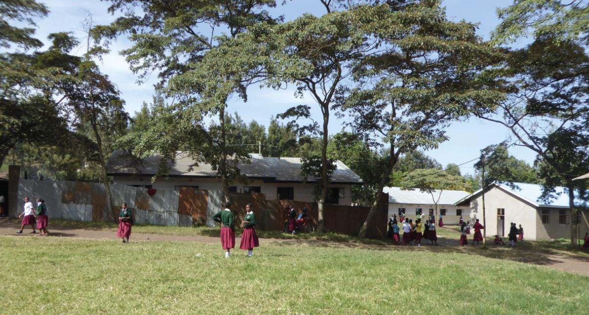 Girls waiting to attend a Tanzanian school